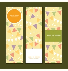 Party decorations bunting vertical banners set vector