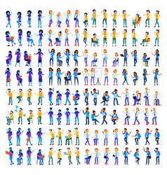 people set man woman modern gradient vector image