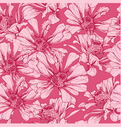 pink seamless pattern for romantic valentines day vector image