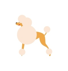 Poodle Dog Breed Primitive Cartoon vector