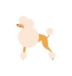 Poodle dog breed primitive cartoon vector