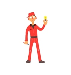 Profession Electrician vector image