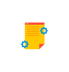 Project brief icon flat element vector
