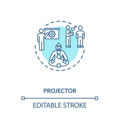 Projector turquoise concept icon vector