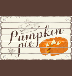 pumpkin pie vector image