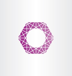 purple hexagon polygon frame vector image