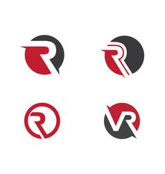 R letter logo template vector