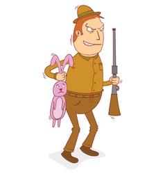 rabbit hunter vector image