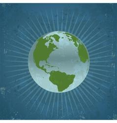 Retro Planet Earth vector image vector image