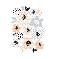 Romantic pale color floral vector