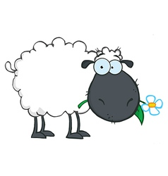 Royalty Free RF Clipart White Sheep Cartoon vector
