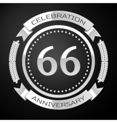 Sixty six years anniversary celebration with vector