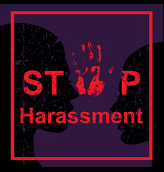 stop harassment of woman vector image