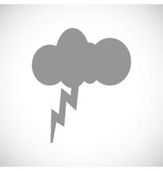 Storm black icon vector