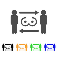 Swingers exchange icon vector