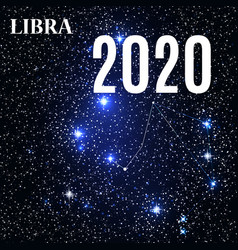 symbol libra zodiac sign with new year and vector image