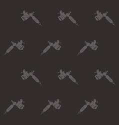tattoo machine theme vector image