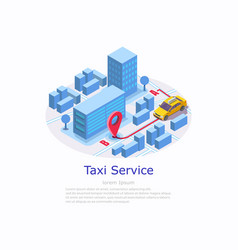 taxi service web site banner template vector image
