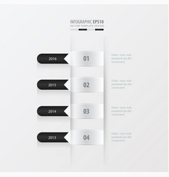 timeline template black and white color vector image