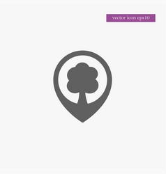 tree location icon simple vector image