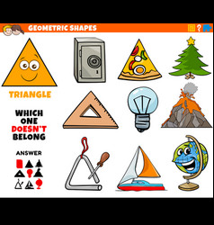 Triangle shape educational task for children vector