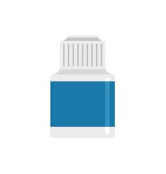 Vaping liquid bottle icon flat style vector