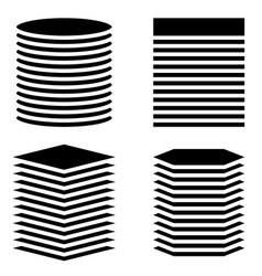 Vertical tanks towers circle rectangle square vector