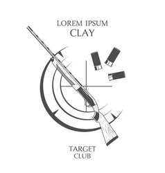 vintage clay target and gun club labels vector image