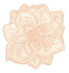 Vintage floral of blooming flowers vector