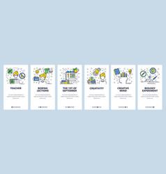 web site linear art onboarding screens vector image