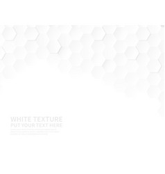 white hexagons technologic hexagonal pattern vector image