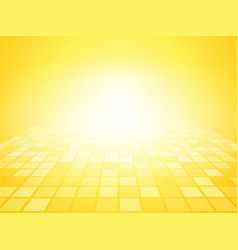 yellow brightly background with squares vector image