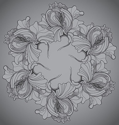 background with ornament of the grayscale graphic vector image
