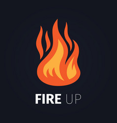 fire up logo template vector image vector image