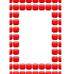 Frame of rubies Red box with space for text vector image vector image