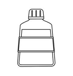 Mouthwash dental care related icon image vector