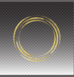 round frame gold glittering star dust vector image