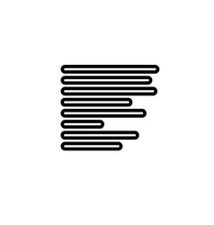text lines icon vector image