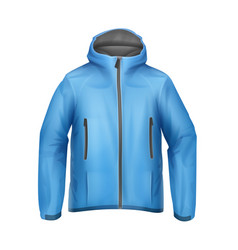Blue unisex jacket vector