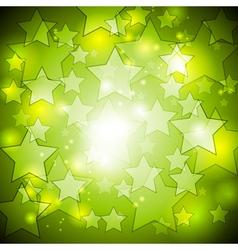 Bright green stars design vector image vector image