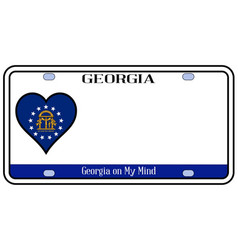 Georgia license plate vector