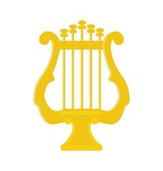 Golden lyre vector image