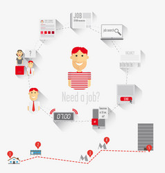 infographics job search vector image vector image