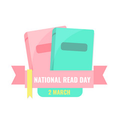 national read day and world book day banner vector image