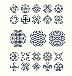 Oriental design elements set easy to create vector