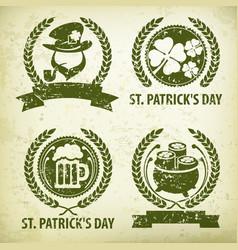 st patrick s day symbols vector image vector image