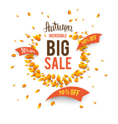 big seasonal fall sale vector image vector image