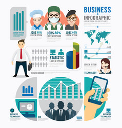 Infographic Business job template design concept vector image vector image