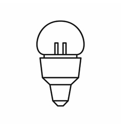 Reflector bulb icon outline style vector image