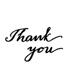 Thank you Hand drawn lettering card vector image